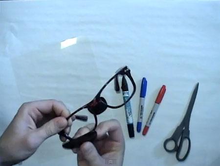 Выдавливаем стекла из обычных очков