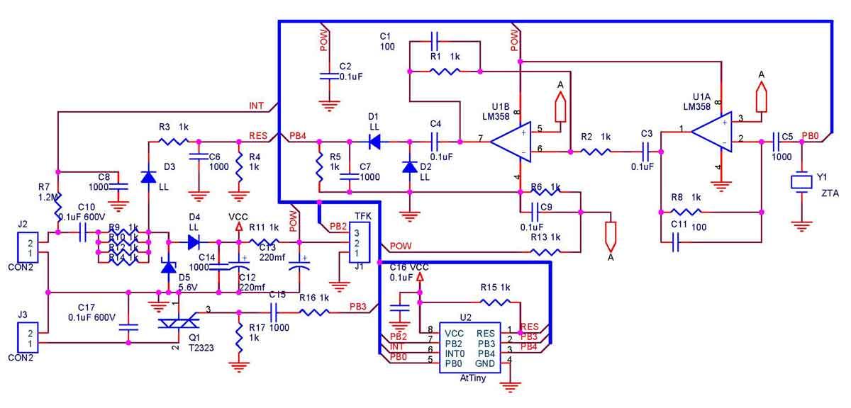 Схема дистанционного выключателя
