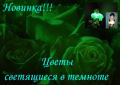 Цветы, светящиеся в темноте