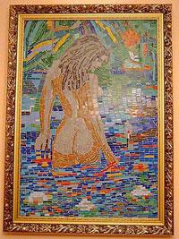 Панно из мозаики-1