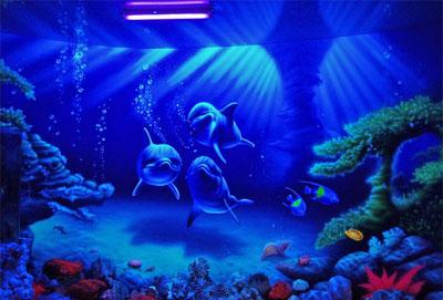 3D дизайн интерьеров - дельфины-1