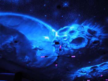 3D дизайн интерьеров - космический сюжет