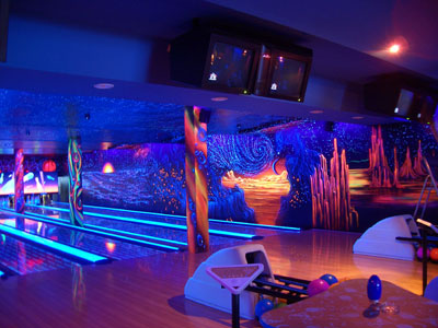 3D дизайн в боулинг-клубе