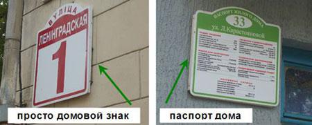 Просто домовой знак и паспорт дома