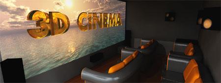 Бюджетный 3D кинотеатр - вид сбоку