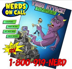 Главная страница компании Nerds on Call