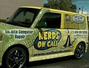 Фирменные автомобили компании Nerds on Call
