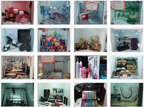 Разнообразие товаров на продажу в мини-бутиках