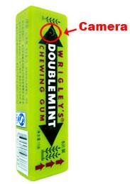 Скрытая камера в виде жевательной резинки