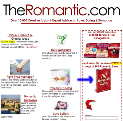 theromantic.com - автор книги 101 romantic ideas