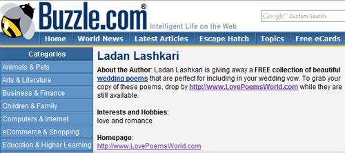 Сайт lovepoemsworld.com принадлежит Ladan Lashkari