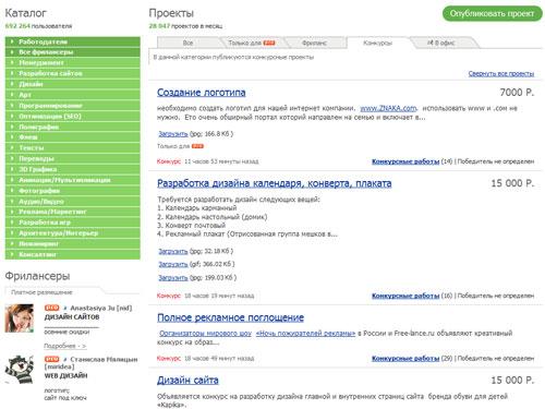Конкурсы на free-lance.ru