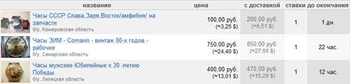 Винтажные мужские часы на molotok.ru
