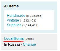 Информация о товарах из России на etsy.com