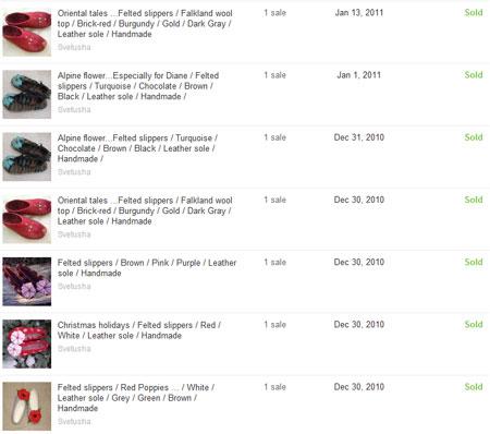 Войлочные тапочки, пользующиеся спросом на etsy.com