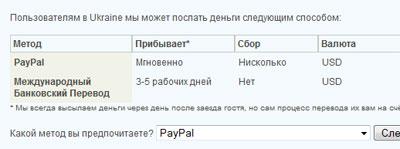 Варианты выплат жителям Украины