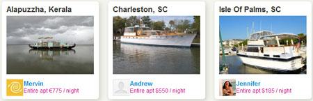 Лодки и яхты, сдаваемые на airbnb.com