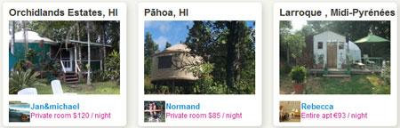 Юрты, сдаваемые на airbnb.com