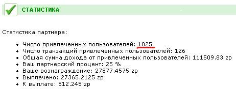 Партнерская программа z-payment - 1025 партнеров