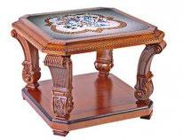 Столик с мраморной столешницей с рисунком