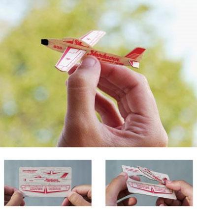 Визитка как модель самолета