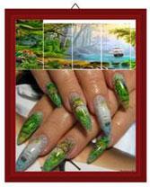 Нанесение фото на ногти