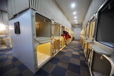 Комнаты-капсулы разделены на зоны