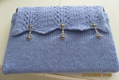 Вязаная сумка-чехол для ноутбука