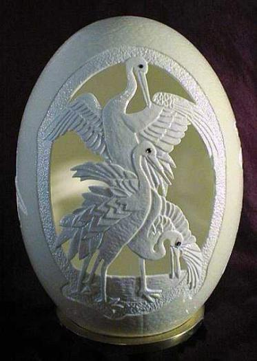 Скульптура из яичной скорлупы стоимостью в 3000 долларов