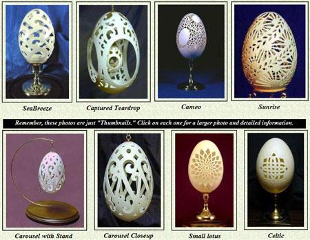 Скульптуры из гусиных яиц