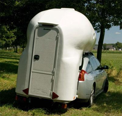 Навесной туалет на колесах сзади