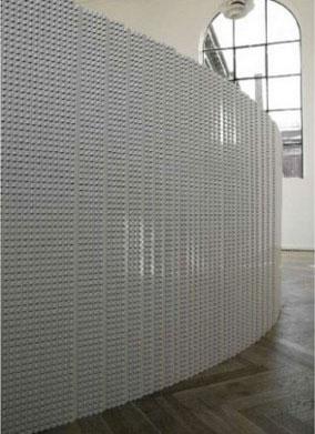 Стена из лего