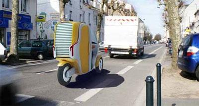Новая модель скутера-такси