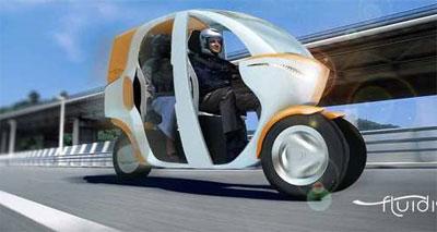 Скутер такси в исполнении промышленного дизайнера
