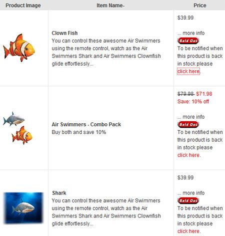 Летающие рыбы распроданы