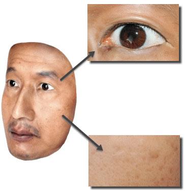 Технология позволяет воспроизводить самые мелкие детали кожи