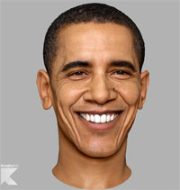 3D маска Барака Обмамы