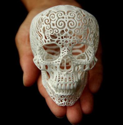Череп, изготовленный на 3D принтере
