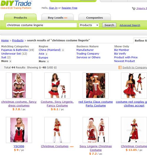 Сексуальные костюмы снегурочек от китайских производителей