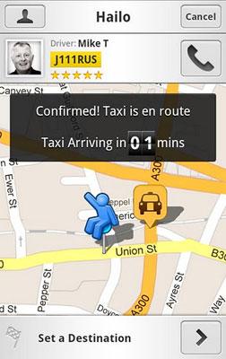 Служба такси без диспетчера Hailo
