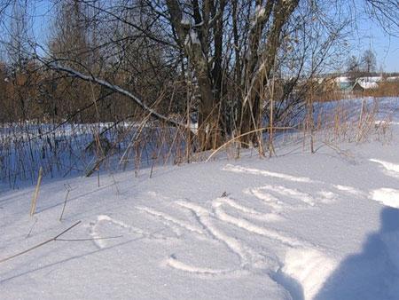 Поздравления на снегу