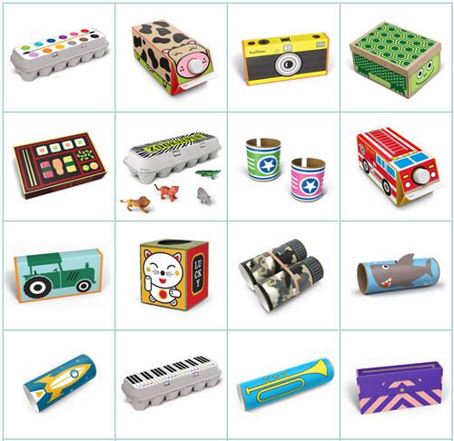 Наклейки для превращения мусора в игрушки