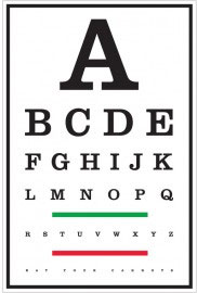 Наклейка для проверки зрения