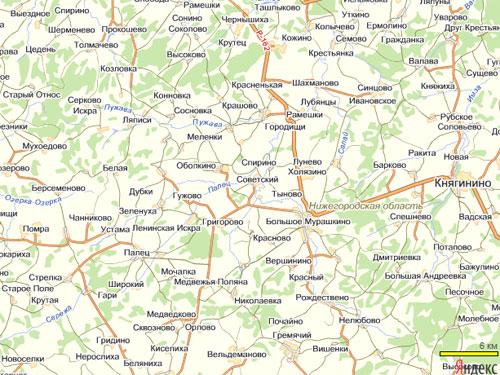 Нижегородская область на Яндекс.Картах