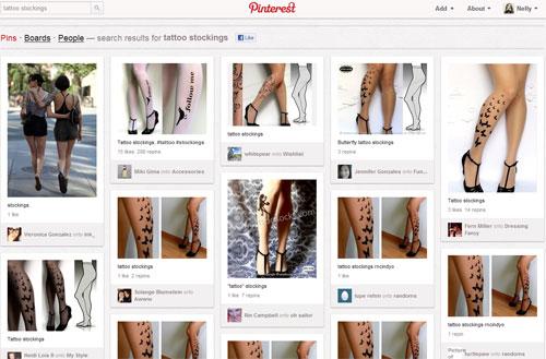 Колготки с тату на Pinterest.com
