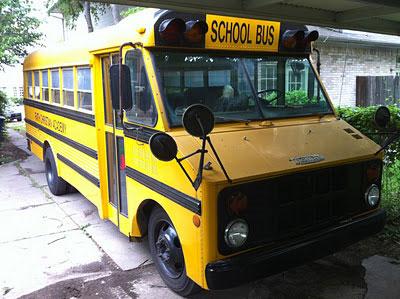 Старый школьный автобус