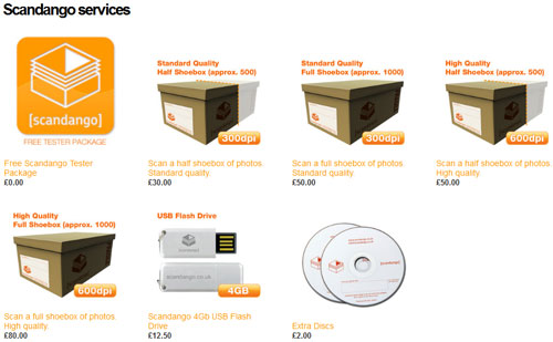 Английские цены на оцифровку фотографий коробками