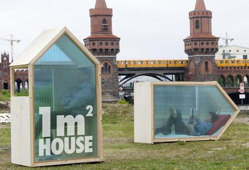 Туристические домики площадью 1 квадратный метр