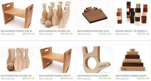 Самые продаваемые деревянные игрушки на etsy.com