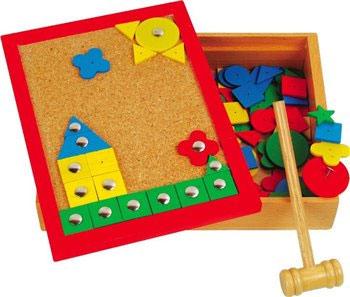 Детский деревянный развивающий конструктор